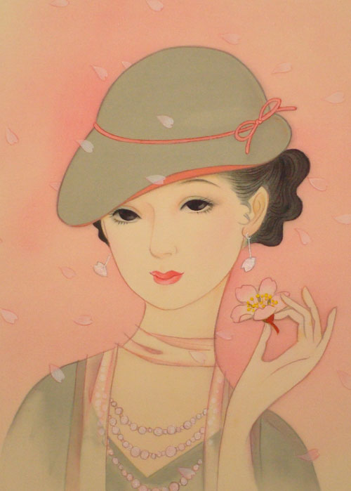 画简单画画美女带帽子