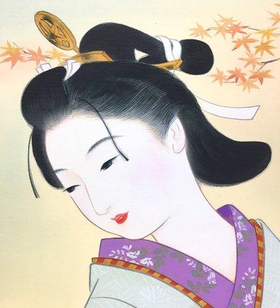 画像2: 美人画[盗人萩-ぬすびとはぎ-」大全紙版額入り