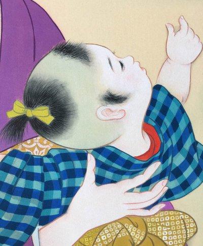 画像2: 美人画[端午の節句-たんごのせっく-」大全紙版額入り