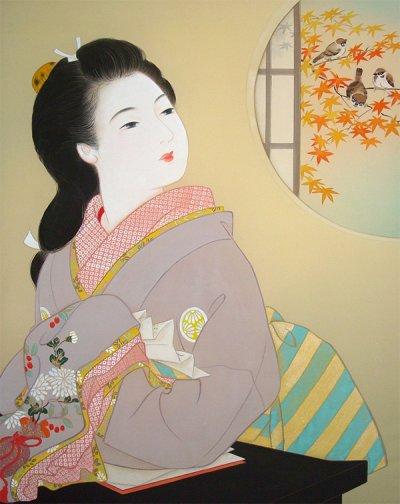 画像1: 美人画[恋文-こいぶみ-」大全紙版額入り