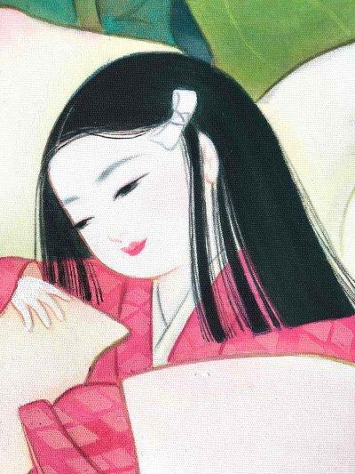 画像2: 童女画「蓮をまとう」四つ切り額入り