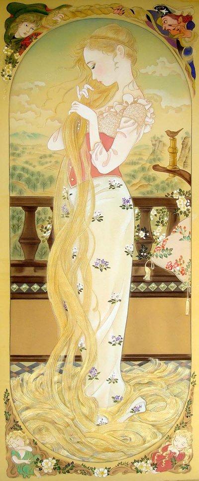 画像1: おひめさまシリーズ「ラプンツェル-Rapunzel-」長方形額入り