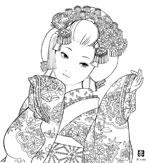 歌舞伎連作「お染」